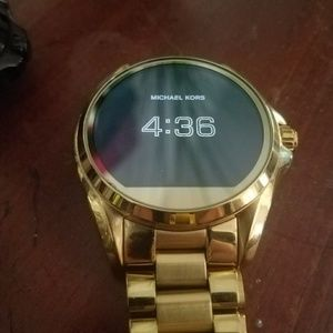Michael Kors Bradshaw gold tone smart watch